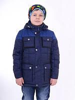 Демисезонная удлиненная куртка на мальчика ТОМАС