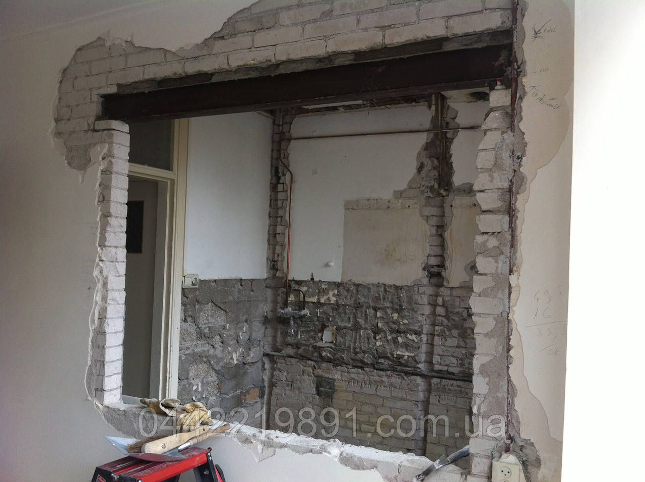 Демонтаж кирпичной стены (063) 112 32 32