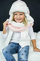 Детская зимняя шапка (набор) для девочек ДАФНИ оптом размер 50-52