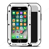 Чехол противоударный Love Mei Gorilla Glass для Apple iPhone 7 Plus 5.5 белый