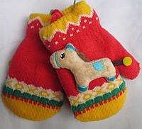 Варежки детские лошадка Rubi