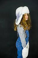 Детская зимняя шапка (набор) для девочек ЭВИАН оптом размер 50-52