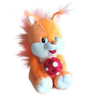 Мягкая игрушка - БЕЛКА МАЛАЯ (муз., 20 см)