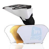 Универсальный рассеиватель для вспышек Canon, Nikon, Nissin, Sigma, Sony и др., 3 цвета.