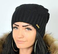 Вязаная полушерстяная шапка, фото 1