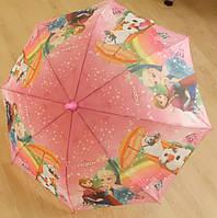 """Детский зонт трость Star Rain """"Холодное сердце 7"""" полуавтомат, 8 спиц"""