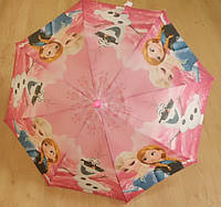 """Детский зонт трость Star Rain """"Холодное сердце 8"""" полуавтомат, 8 спиц"""