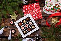 Новогодний шоколадный набор 9 конфеток