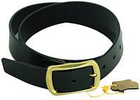 Элегантный мужской кожаный ремень 3,8 см. Traum 8715-38, черный