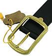Элегантный мужской кожаный ремень 3,8 см. Traum 8715-38, черный, фото 2