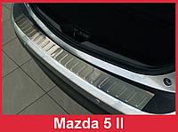 Накладка на задний бампер Mazda 5