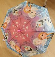 """Детский зонт трость Star Rain """"Холодное сердце 9"""" полуавтомат, 8 спиц"""