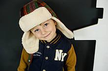 Детская зимняя шапка для мальчиков оптом размер 52-54