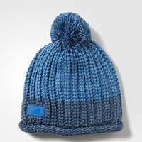 Теплая шапка-бини адидас с помпоном Climawarm Chunky AY7871