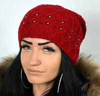 Женская полушерстяная шапка , фото 1