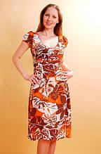 Платье женское шифоновое на подкладке цветное