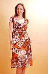 Сукня жіноча шифонова на підкладці кольорове, фото 2