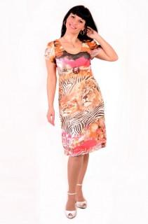 Сукня жіноча «Саванна», шифон , інтернет магазин , 46,48,50, по коліно, Пл 024-2.