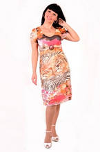Платье женское «Саванна», шифон , интернет магазин , 46,48,50, по колено, Пл 024-2.