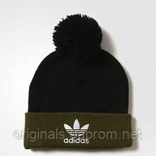 Теплая шапка с помпоном Adidas Originals AY9057 на флисе