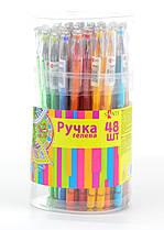 Ручка гелевая Оранжевая Diamond 0,5, SANTI 411668