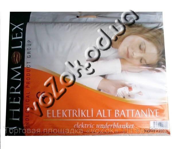 Полуторная электропростыня электроматрас 120х160 см Termolex с регулятором 80 Вт материал типа байка Турция