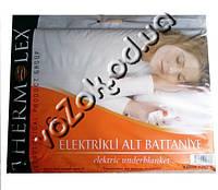 Полуторная электропростыня электроматрас 120х160 см Termolex с регулятором 80 Вт материал типа байка Турция, фото 1