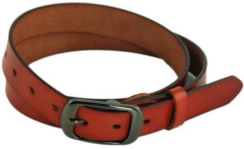Удобный женский кожаный ремень 2,7 см. Traum 8825-15, коричневый