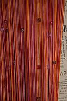 Нитяные шторы радуга со стеклярусом (102)