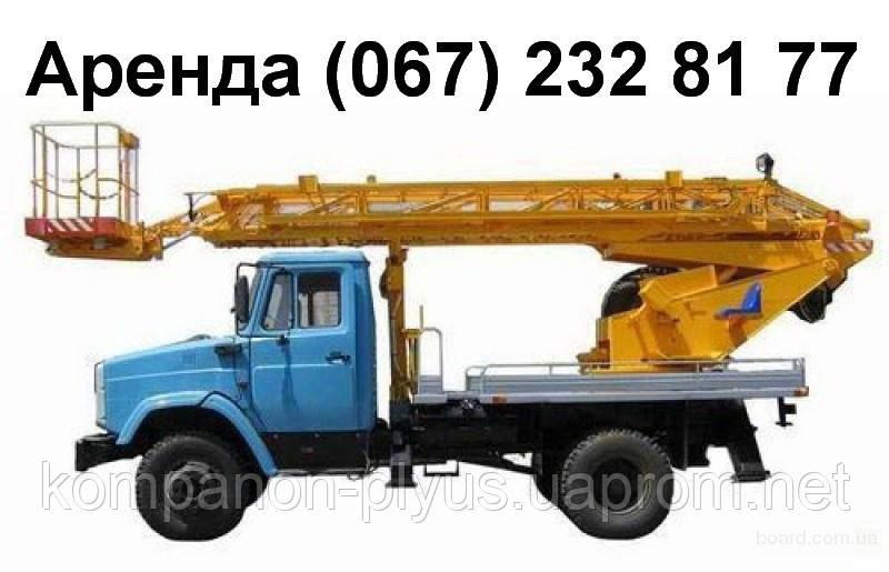 Аренда автовышки на 4 часа в Киеве Услуги автовышки недорого.