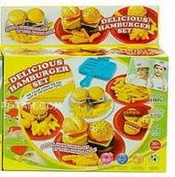 Набор для творчества тесто для лепки Гамбургер № 8506