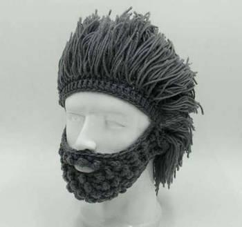 Шапка прикол парик волосы лыжная шапка