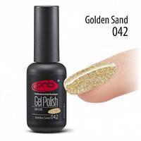 Золотой голографический гель лак с блестками Gold Sand