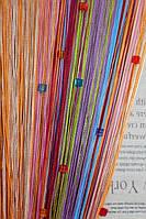 Нитяные шторы радужные стеклярус (104)
