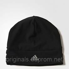 Шапка-бини черная для бега adidas Climalite S94149