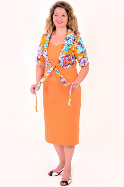 Платье-костюм летнее, лен ,хлопок, 50,52,54,56,58, за колено ,большие размеры,ПЛ 067-6.