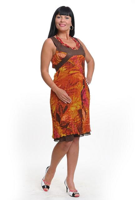 Платье женское из жатого шифона 50-52 размер
