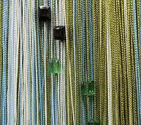 Шторы нити с квадратными камнями (стеклярус) (105), фото 1