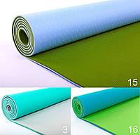 Коврик для фитнеса Zelart TPE+TC 6мм FI-5172 Yoga mat