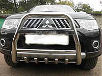 Передняя защита для Mitsubishi Pajero Sport 2008+