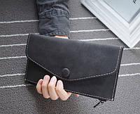 Стильный женский кошелек клатч черного цвета