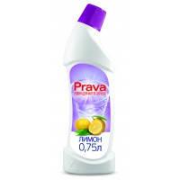Жидкость для чистки туалетов лимон, 0,75 л Prava (96-230) шт.