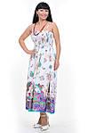 Сарафан белый хлопок юбка в пол длинная ПЛ 10034, фото 2