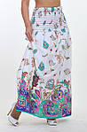 Сарафан  Пл 10034 белый, хлопок,размеры: 44-52, сарафан-юбка в пол, длинная, макси, фото 2