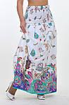 Сарафан белый хлопок юбка в пол длинная ПЛ 10034, фото 3