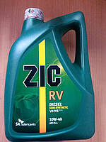 Полусинтетическое моторное масло ZIC RV 10w-40 6л ― производства Корея, фото 1