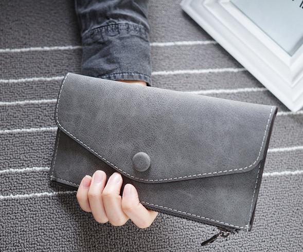 b01cf15d8f3d Стильный женский кошелек клатч серого цвета, цена 135 грн., купить в ...