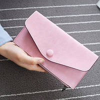 Стильный женский кошелек клатч розового цвета, Жіночий гаманець