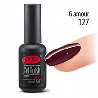 Гель-лак с блестками Glamour бордового цвета
