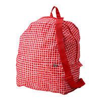 "IKEA ""КНЭЛЛА"" Рюкзак, красный, белый"